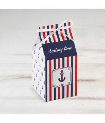 Μπομπονιέρα Βάπτισης Milkbox Ναυτικό 81480/Β