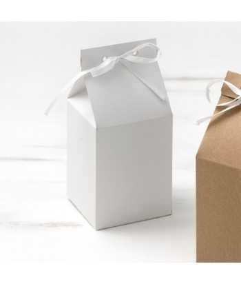 Μπομπονιέρα Βάπτισης Κουτί Γάλακτος Λευκό 81483