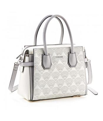 Τσάντα Χειρός Verde 5614-3 Λευκό