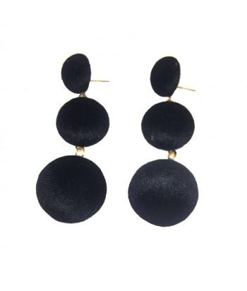 Σκουλαρίκια Μαύρα Fantazy 98632-1