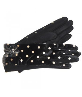 Γάντια Γυναίκεια Μαύρα Fantazy 02-514