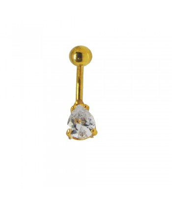 Σκουλαρίκι Αφαλού Χρυσό Fantazy 02201-2