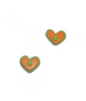 Σκουλαρίκι Παιδικό Καρδιά Πορτοκαλί 70628-2