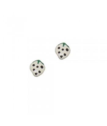 Σκουλαρίκι Παιδικό Φράουλα Λευκό 70628-7