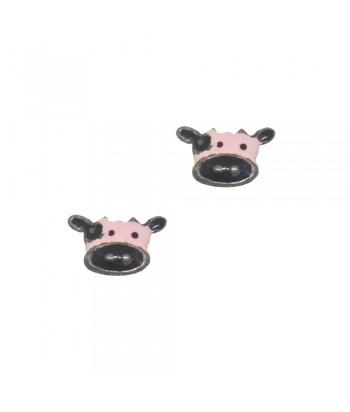 Σκουλαρίκι Παιδικό Αγελάδα Ροζ 70628-13