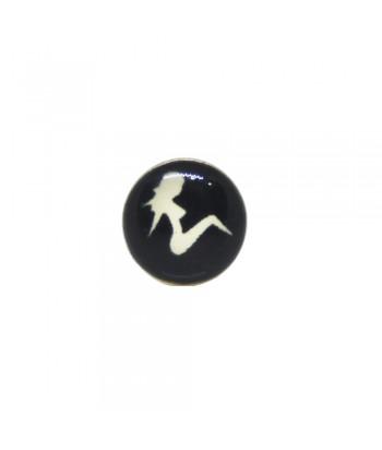 Σκουλαρίκι Τάπα Μαύρο 8mm Fantazy 02052-8