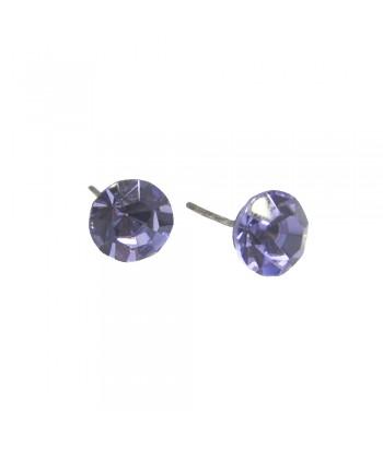 Σκουλαρίκι Με Stras Λιλά 8mm Fantazy 001570