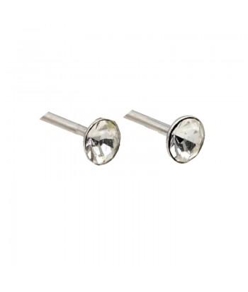 Σκουλαρίκι Με Stras Λευκό 3mm Fantazy 84420-25