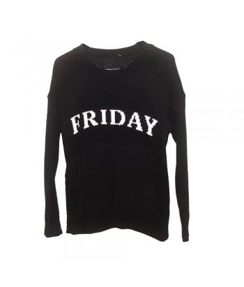 Μπλούζα Πλεκτή Μαύρη Fantazy 56971-1