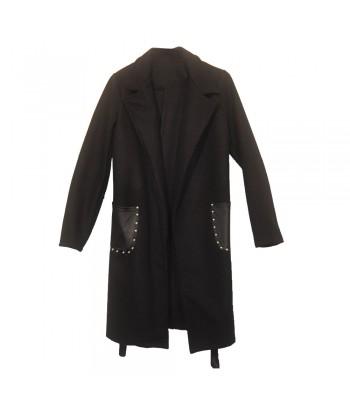 Παλτό Μαύρο Fantazy Accessories 63826-1