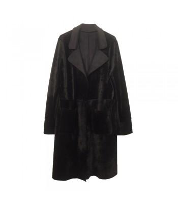 Παλτό Διπλής Όψης Μαύρο Fantazy 9181-2