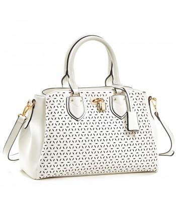 Τσάντα Ώμου Verde 16-5930 Λευκό