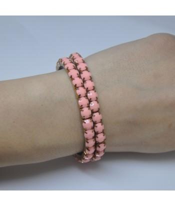 Γυναικείο Βραχιόλι Με Πέτρες Ροζ 58632-5