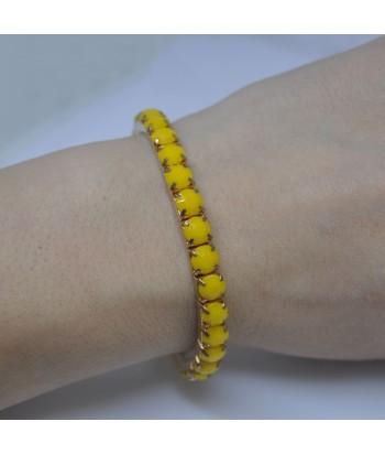 Γυναικείο Βραχιόλι Με Πέτρες Κίτρινο 58632-10