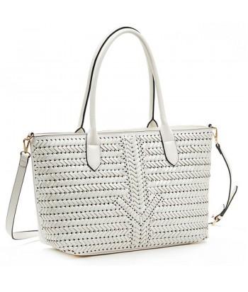 Τσάντα Ώμου Verde 16-6032 Λευκό