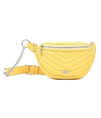 Τσάντα Μέσης Doca 17464 Κίτρινο