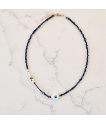 Κολιέ Χειροποίητο Με Σχέδιο Μάτι 01492-196 Μπλε