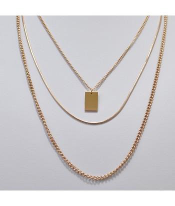 Κολιέ Αλυσίδα 3πλο Με Σχέδιο 128792-22 Rose Gold