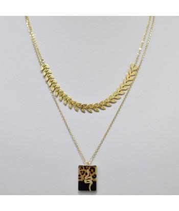 Κολιέ Αλυσίδα 2πλο Με Σχέδιο 128792-23 Χρυσό