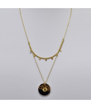 Κολιέ Αλυσίδα 2πλο Με Σχέδιο 128792-24 Χρυσό