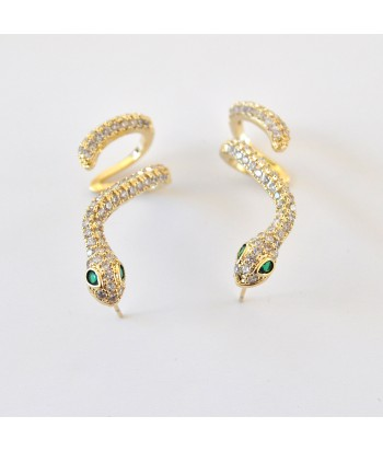 Σκουλαρίκια Με Σχέδιο Φίδι 01494-100 Χρυσό