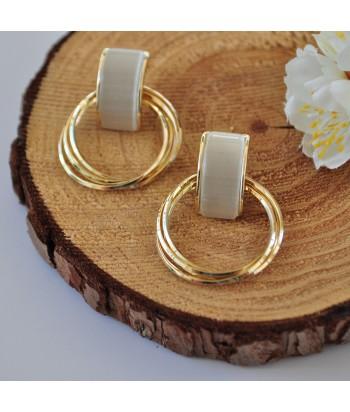 Σκουλαρίκια Ατσάλι Με Σχέδιο 01494-103 Χρυσό