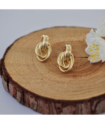 Σκουλαρίκια Ατσάλι Με Σχέδιο 14295-12 Χρυσό