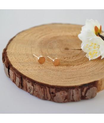 Σκουλαρίκια Ατσάλι Με Σχέδιο 01822-1 Rose Gold