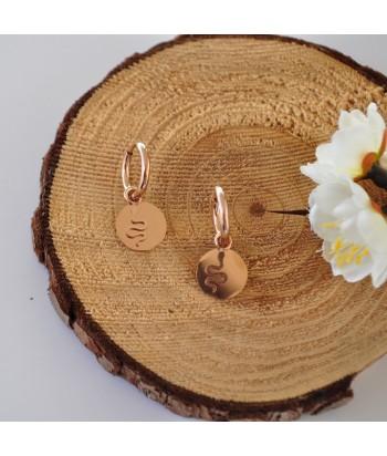 Σκουλαρίκια Με Σχέδιο Φίδι 01495-140 Rose Gold