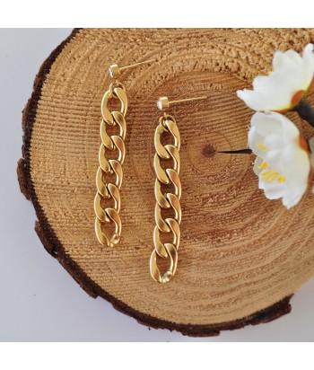 Σκουλαρίκια Ατσάλι Με Σχέδιο 14295-14 Χρυσό