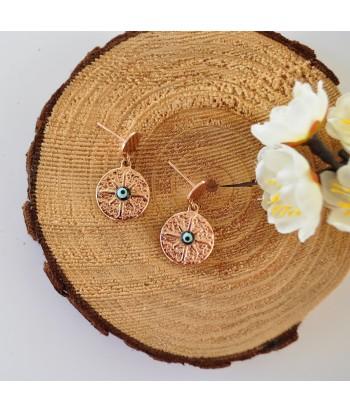 Σκουλαρίκια Ατσάλι Με Σχέδιο 01495-145 Rose Gold