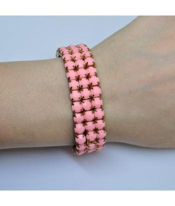 Βραχιόλι Γυναικείο Με Χάντρες 3687-1 Ροζ