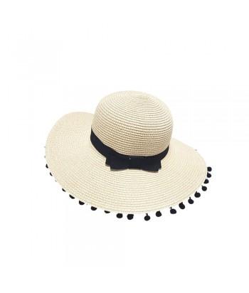 Καπέλο Γυναικείο Ψάθινο 01-1612 Εκρου