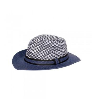 Καπέλο Γυναικείο Ψάθινο 01-1397 Μπλε