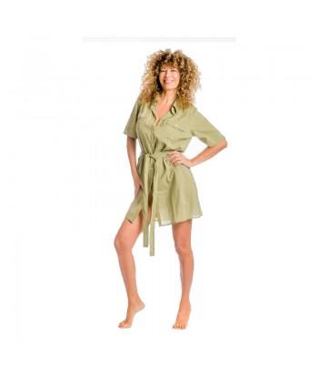 Πουκαμίσα Γυναικεία Με Σχέδιο 357-01 Πράσινο