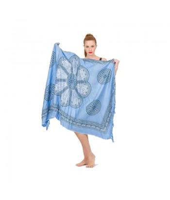 Παρεό Ethnic Με Κρόσσια 29401-18 Μπλε