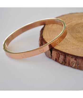 Βραχιόλι Ατσάλι Xειροπέδα 98755-92 Rose Gold