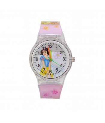 Παιδικό Ρολόι Με Σχέδιο Χιονάτη 32022-13 Ροζ