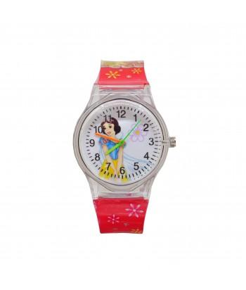 Παιδικό Ρολόι Με Σχέδιο Χιονάτη 32022-18 Ροζ
