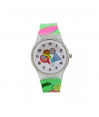 Παιδικό Ρολόι Με Σχέδιο Αθλήματα 32022-19 Πράσινο