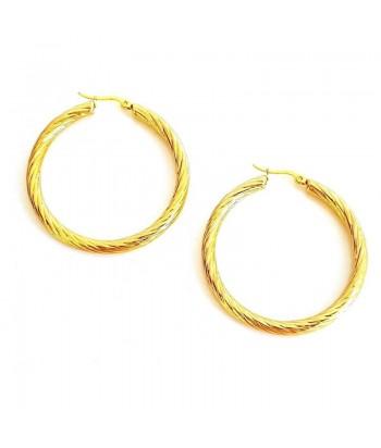 Σκουλαρίκια Κρίκοι Fantazy 3,5cm Χρυσό 7889-11