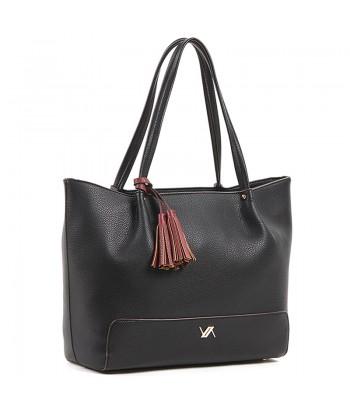 Τσάντα Ώμου Verde 16-6092 Μαύρο