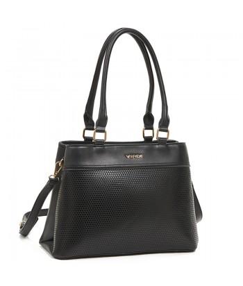 Τσάντα Ώμου Verde 16-6110 Μαύρο