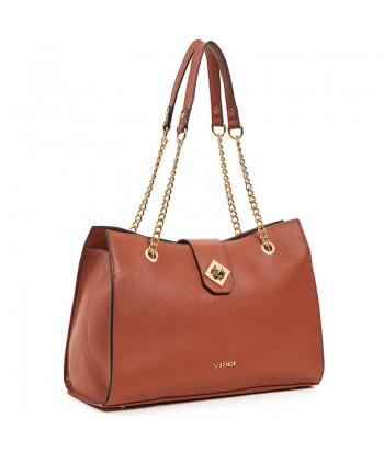 Τσάντα Ώμου Verde 16-6141 Camel