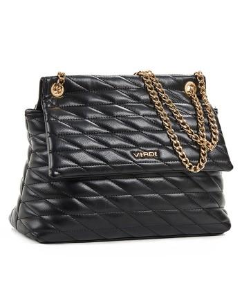 Τσάντα Ώμου Verde 16-6193 Μαύρο