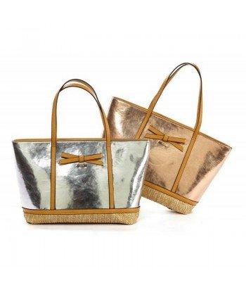 Τσάντα ώμου Verde 4170 Rose gold