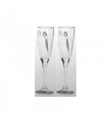 Ποτήρια σαμπάνιας γυάλινα Zivas 12571
