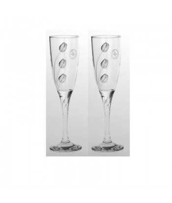 Ποτήρια σαμπάνιας γυάλινα Zivas 12574
