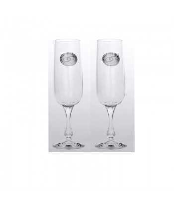 Ποτήρια σαμπάνιας γυάλινα Zivas 12741